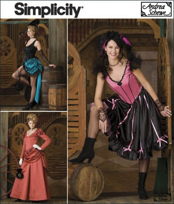 Simplicity 2851 Dancing Girls costumes