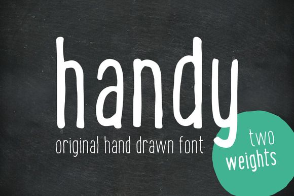 Check out Handy - the hand drawn font by Vítek Prchal on Creative Market