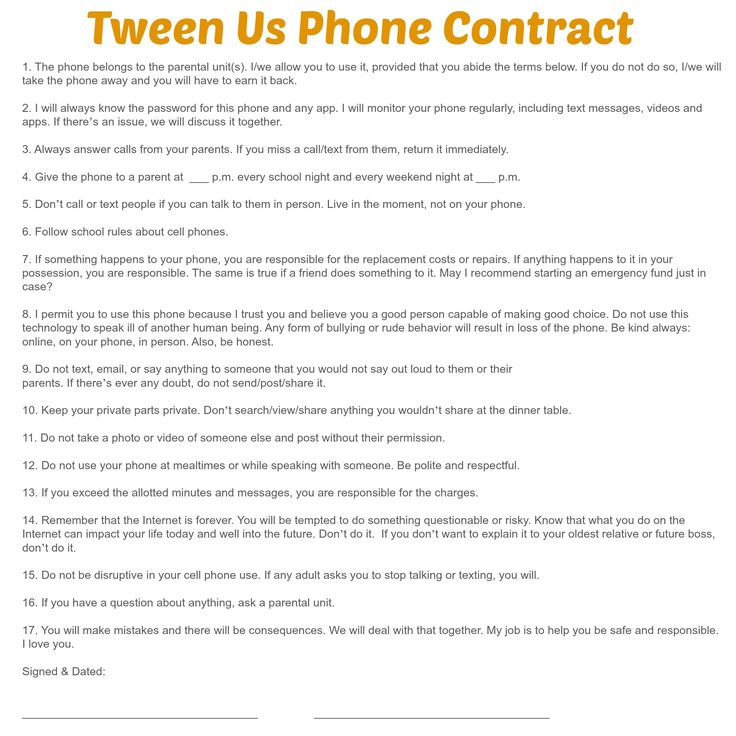 Best 25+ Cell phone contract ideas on Pinterest Teen cell phone - student contract templates