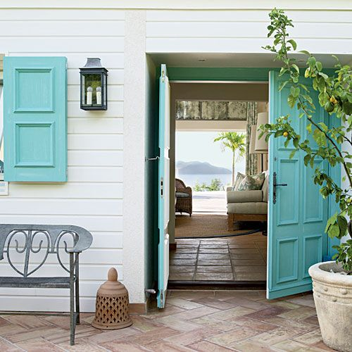 Tropical Tone - Ideas for Creating an Inviting Entryway - Coastal Living