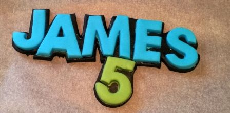 Fondant lettering: how to