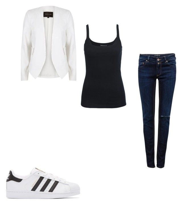 """#421"" by aureeliet on Polyvore featuring River Island, Pull&Bear and adidas Originals"