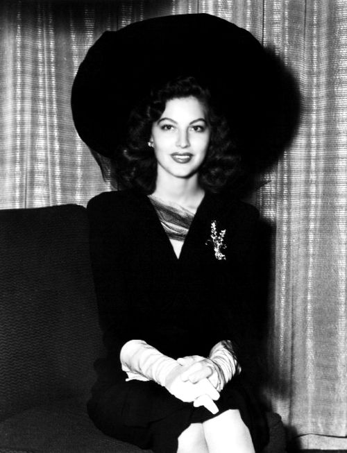 Ava Gardner looking beautiful in black, c. 1940'sThis photograph was found on the Ava Gardner Museum's Facebook page [x]