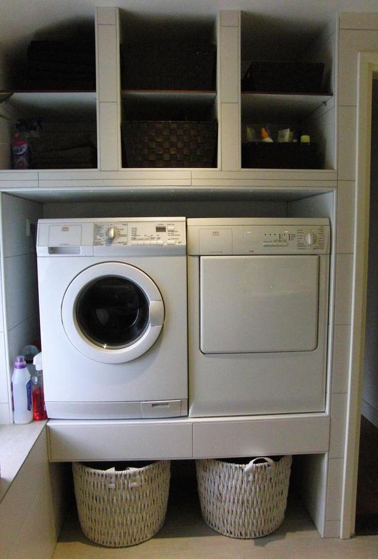 Foto: mooi opgeruimd en de wasmachine en droger op werkhoogte. Geplaatst door brigittezon op Welke.nl