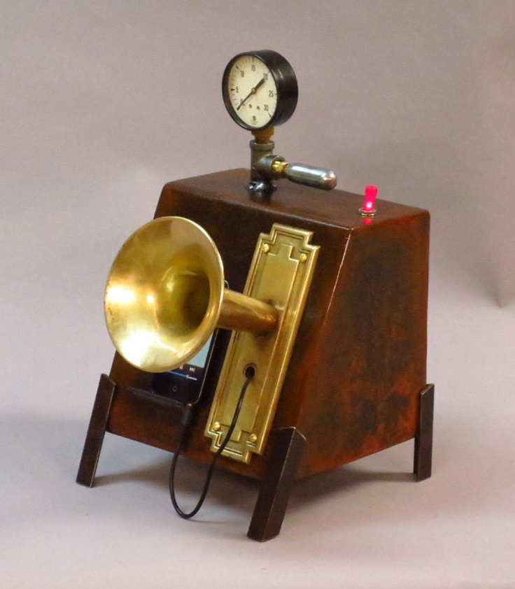 Steampunk iPod Speaker Box. via Etsy. Would love to buy this for my wedding reception.