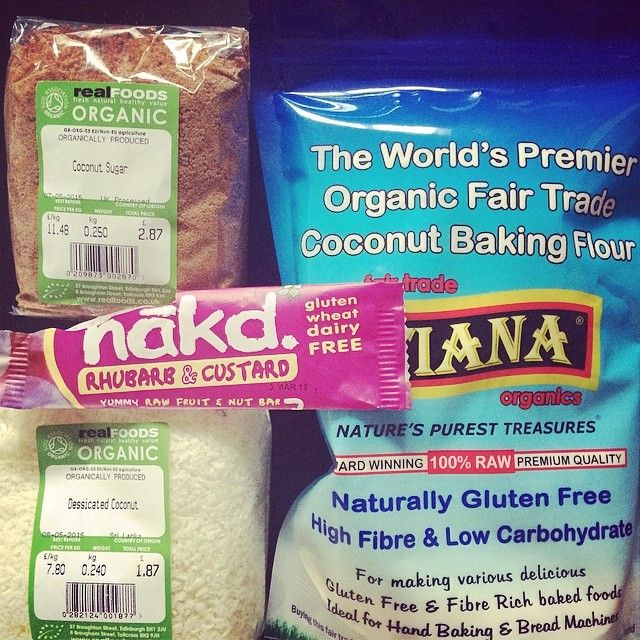 sugarandsakura via Instagram:  Went a bit coconut crazy in @realfoods_uk today...how have I only just found out about you guys???? Best shop ever!! And no the nakd bar didn't make it home.... #paleo #healthy #fitness #food #nakd #coconutsugarisamazing