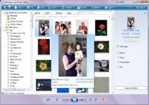Gallery of Free Graphics Software: Windows Live Photo Gallery (Windows)