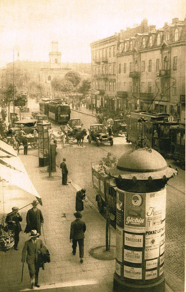 Warszawa, ulica Marszałkowska, 1928 rok