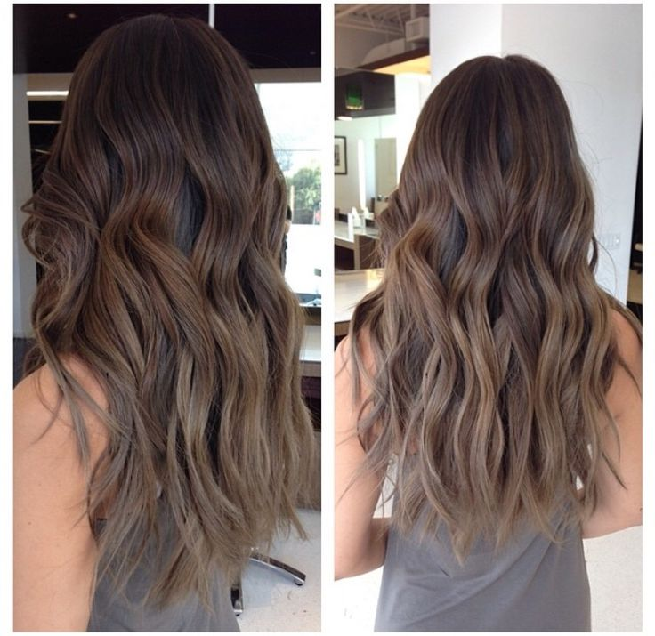 Natural brown ombre