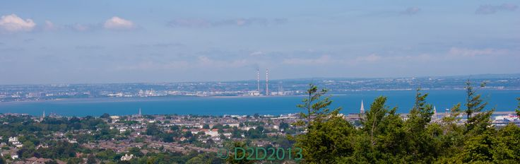 Dublin Bay Photographed from the Top of Killiney Hill Dublin. Taken on our South Dublin Bay Tour.