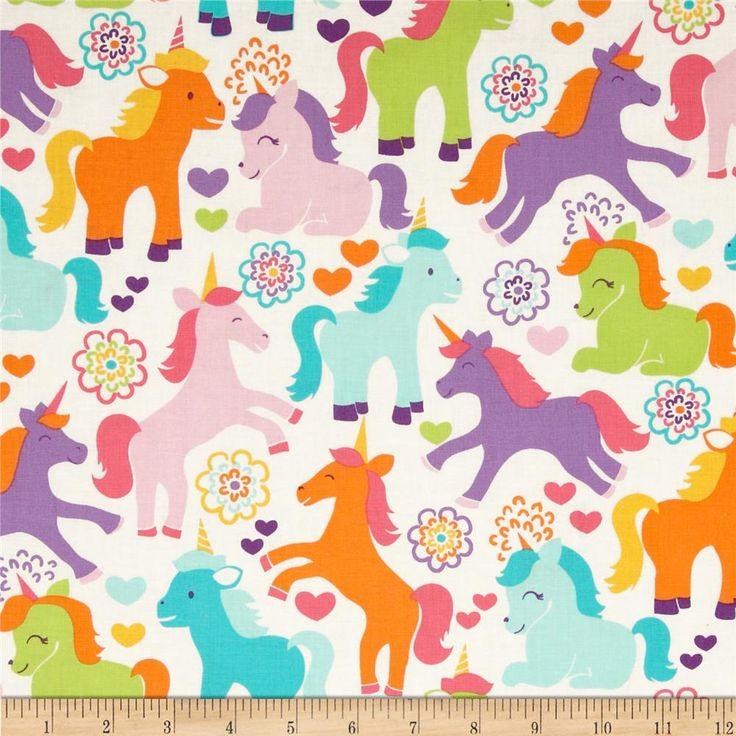 Michael miller sorbet magic unicorns sorbet