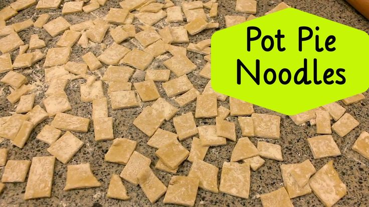Homemade noodles!  Pennsylvania Dutch Amish style pot pie noodles.  Also known at bot boi, these rustic egg noodles will turn any soup into thick hearty comfort food!