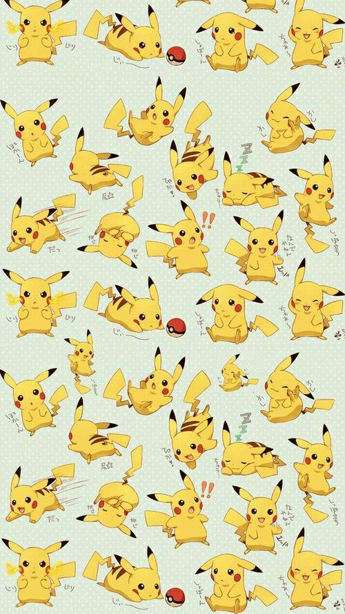 Anime [ Pokemon ] Pikachu  Wallpaper                                                                                                                                                                                 Plus