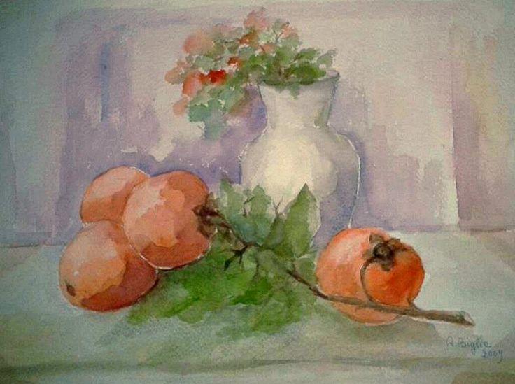 R.Biglia - Frutti arancione - Acquerello