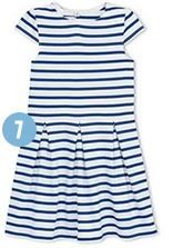 Petit-Bateau : The Sailor Striped Dress from Petit-Bateau is the ideal attire for the little mariner in your life. Sporting the classic maritime motif of blue and white stripes, it's an adorable getup for any occasion, be it as a deckhand aboard the boat or a cover-up at the beach.   #PalmBeachRealEstate #KevinMLeonard #LuxuryAgent #PalmBeach #LuxuryPortfolio