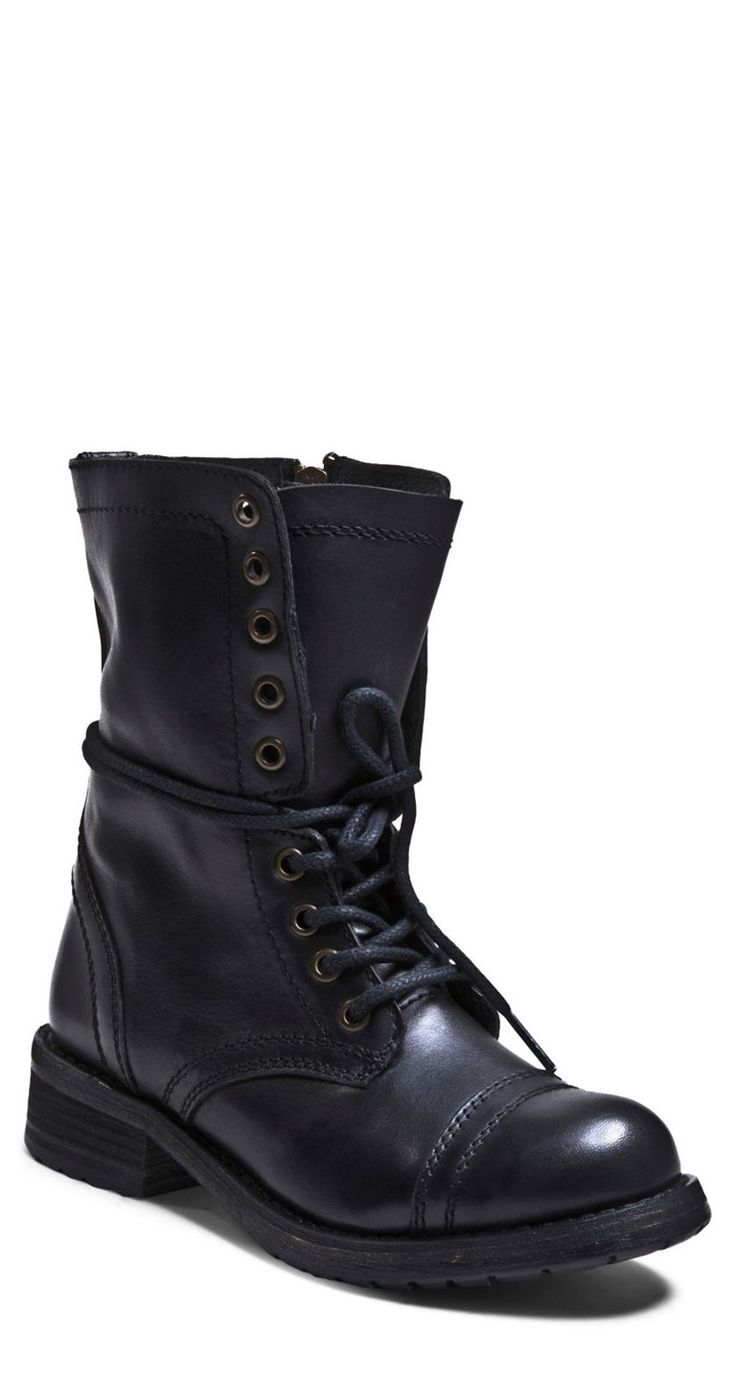 Grunge-chic combat boots from Steve Madden