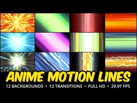 Anime Motion Lines Background Pack