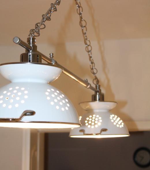 1000+ ideas about Colander Light on Pinterest Light fixtures, Lighting and Study corner