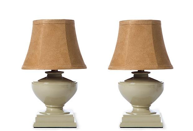 Mini Beige Table Lamps Set on OneKingsLane.com