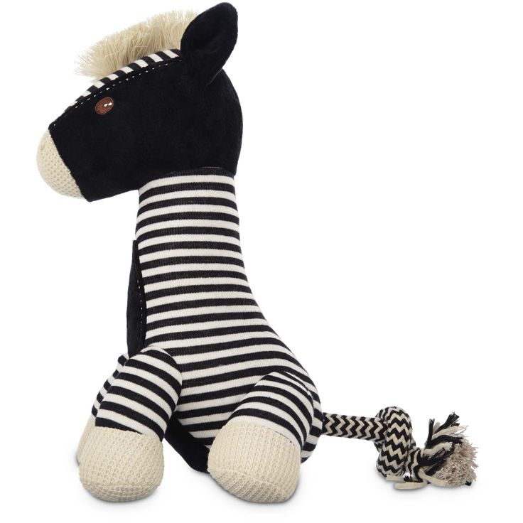 Leaps Bounds Wildlife Plush Long Neck Zebra Dog Toy 12 Large