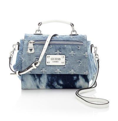 Sacs Guess, craquez sur le sac Langley Denim Crossbody Bag Guess prix promo GUESS 115.00 €