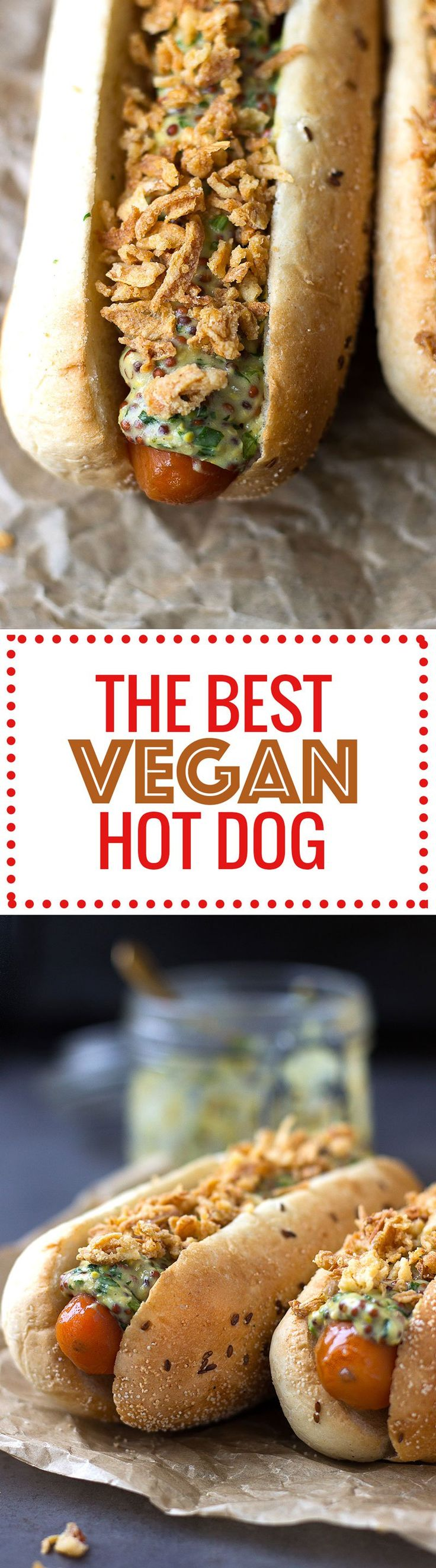 The BEST vegan hot dog! It's gluten free, nut free and soy free as well! And easy peasy to make! Get the recipe at nutritionistmeetschef.com