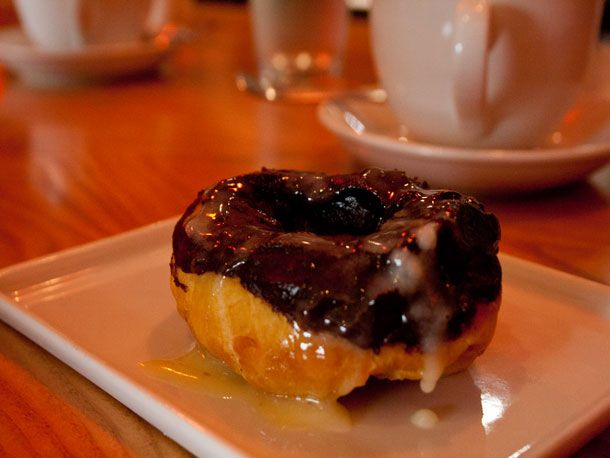 When 2 Sparrows first opened, attention centered on the signature maple-bacon doughnut and foie gras-cherry Pop-Tart, but a new tiramisu-flavored doughnut trumps both of those creations.