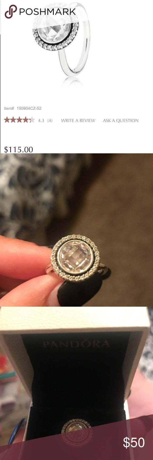 PANDORA Brilliant Legacy Ring Size 6 Pandora ring sizing runs a little big so it could fit a size 7 as well. Very lightly used. Pandora Jewelry Rings