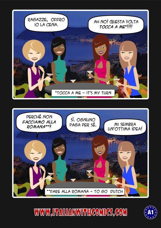 """Idioms of the day: """"Tocca a me"""" and """"Fare alla romana"""". - ITALIAN WITH COMICS"""
