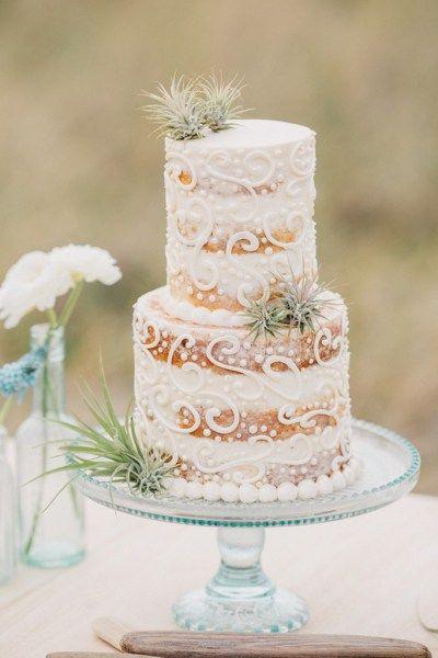 Boho Beach Wedding Inspiration - cake
