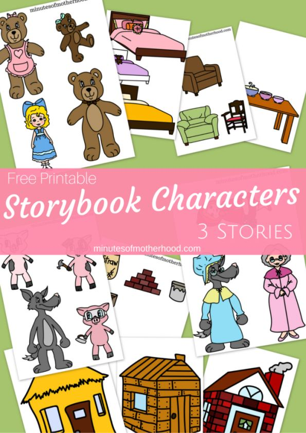 Printable Story Book Characters Little Red Riding Hood, Goldilocks, And The…