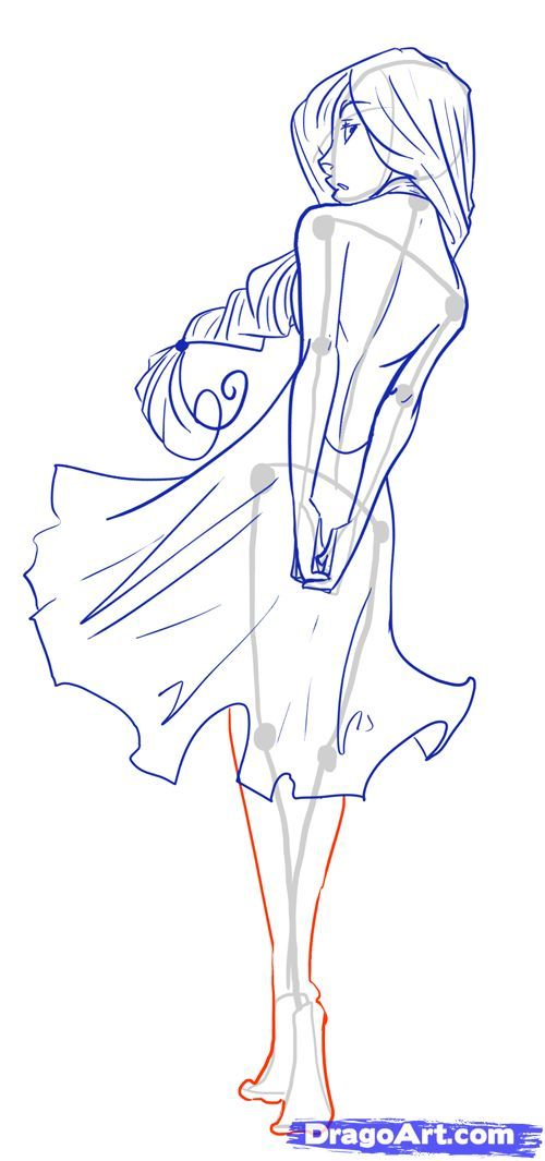 How to Draw Female Figures, Draw Female Bodies, Step by Step, Anime Females, Anime, Draw Japanese Anime, Draw Manga, FREE Online Drawing Tutorial, Added by MauAcheron, June 24, 2012, 1:20:17 am