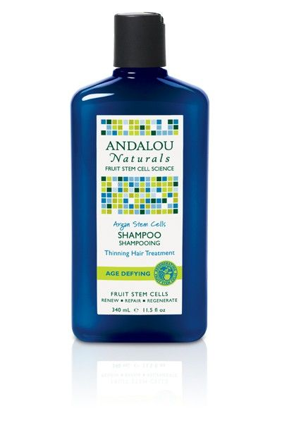 Andalou Naturals Argan Stem Cells Shampoo Age Defying Thinning Hair Treatment