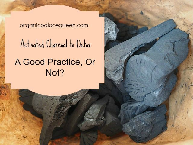 Activated charcoal pills detox remedy.