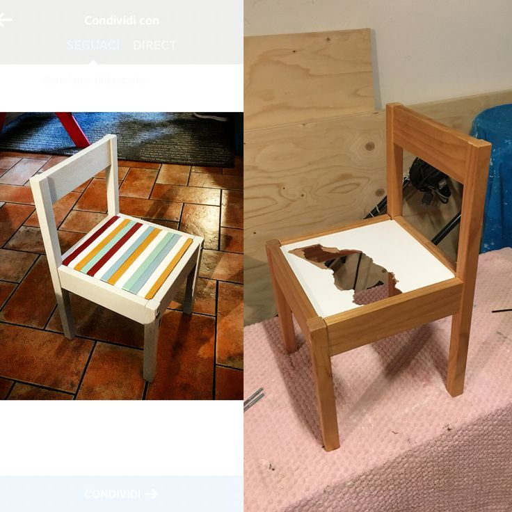 #ruvidodesign restauro sedia baby