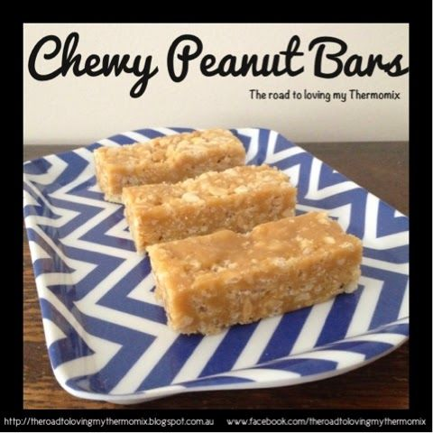 The road to loving my Thermomix: Chewy Peanut Bars