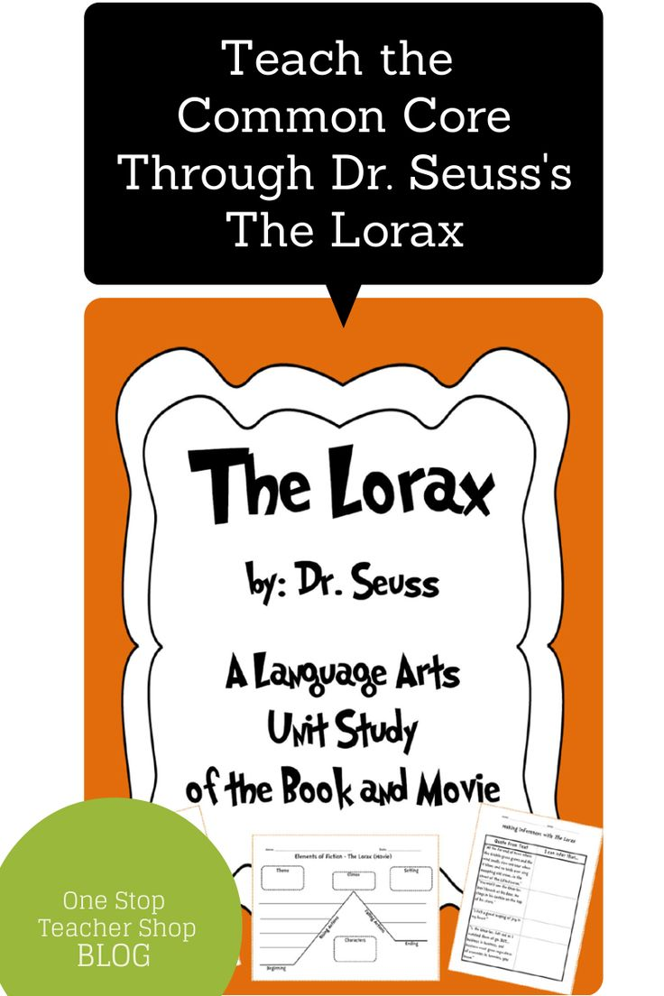 dr seuss the lorax essay A new essay suggests that the patas monkey and its ecological relationship with  the whistling thorn acacia tree inspired dr seuss's famous.