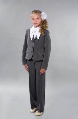 Школьный брючный костюм для старшеклассницы