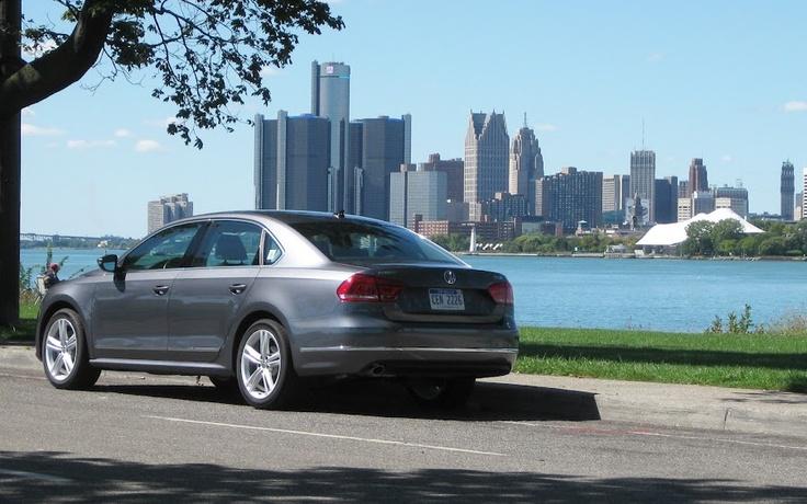 .@AM_Jake's weekend travels in the @VW Passat TDI included sunny Belle Isle, near Detroit.