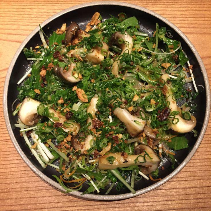 Yummy daikoku mushroom salad by Ronin