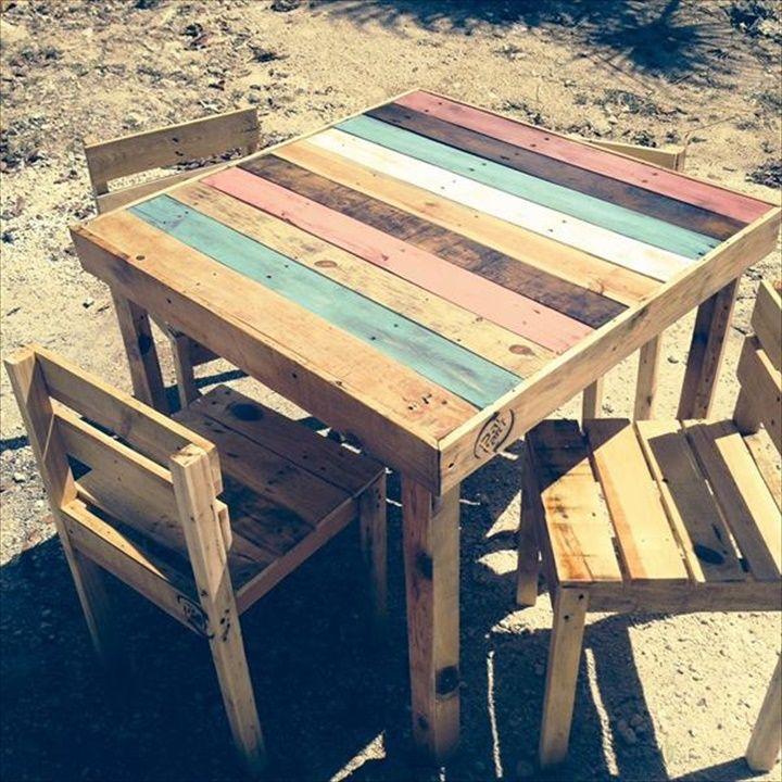 58 DIY Pallet Dining Tables