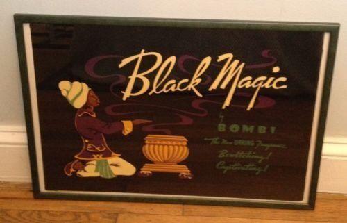 Black Magic Perfume By Bombi Framed Ad Poster