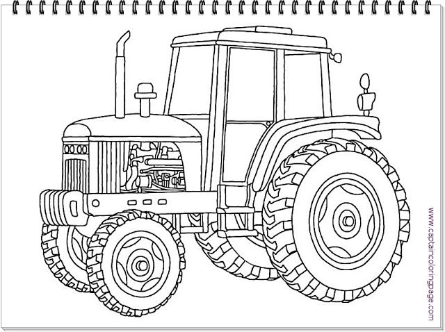 A Tractor Coloring Pages Free Download Goruntuler Ile Traktor