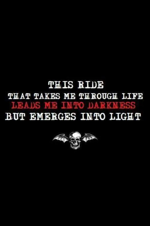 A7X. So true and I am starting to see the light