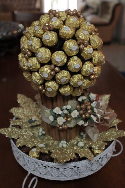 Ferrero Rocher Chocolate Topiary
