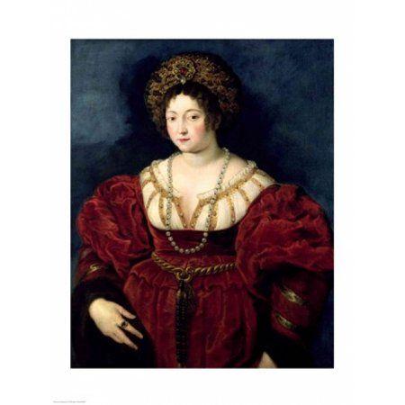 Posthumous portrait of Isabella dEste Canvas Art – Peter Paul Rubens (18 x 24)