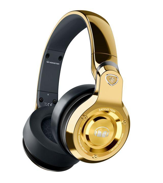 jbl headphones wireless gold. monster - over-the-ear dj headphones gold/black larger front jbl wireless gold