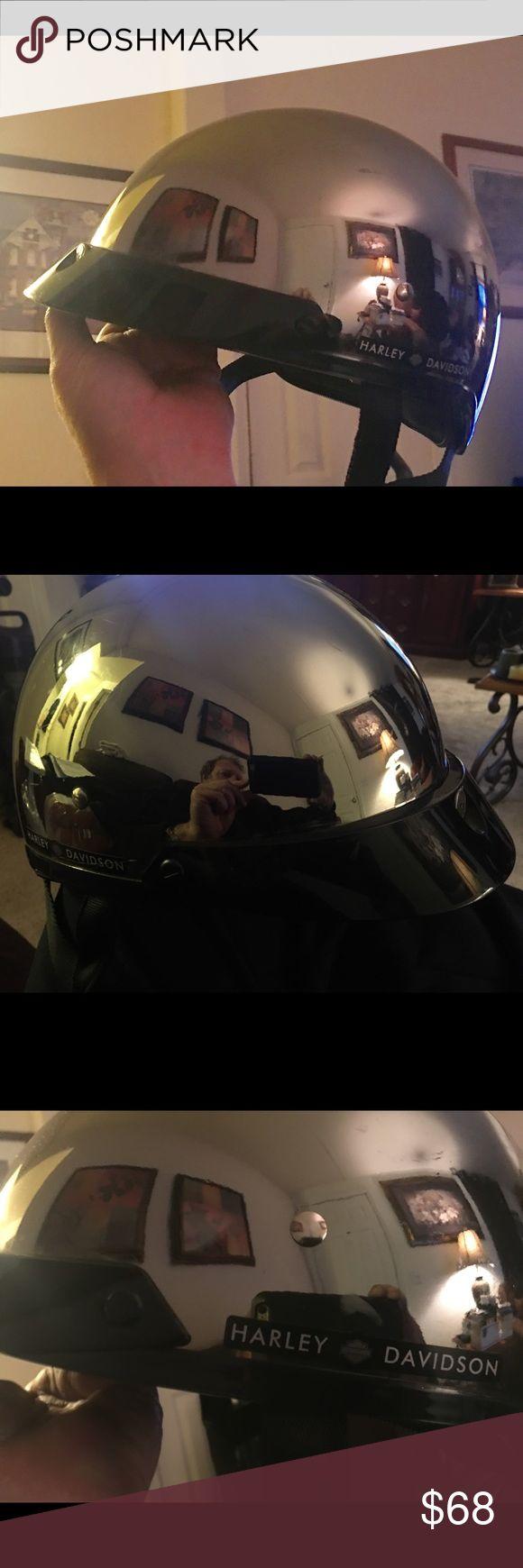 Harley Davidson Silver Half Helmet Harley Davidson Silver half helmet. Size Medium. Harley-Davidson Other