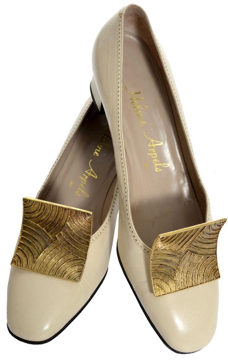 1960's MUSI Brass Clip Vintage Shoe Buckles
