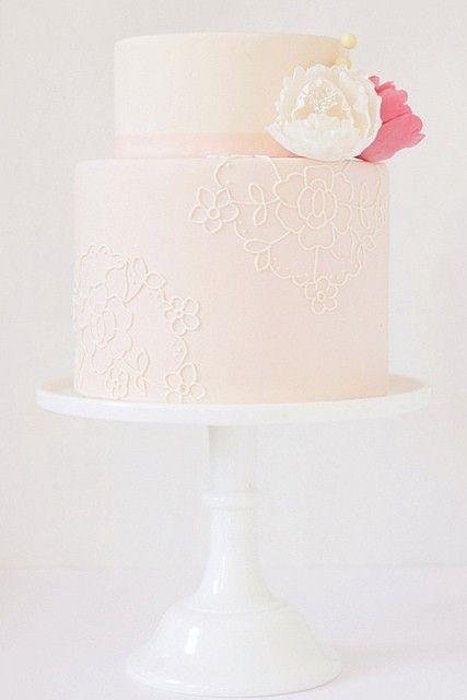 Pink wedding cake cake